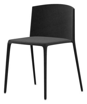 Mobilier - Chaises, fauteuils de salle à manger - Chaise rembourrée Achille - MDF Italia - Noir - Coton, Métal, Mousse