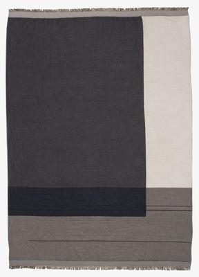 Plaid Colour Block / 130 x 180 cm - Coton - Ferm Living gris,blanc cassé,beige en tissu