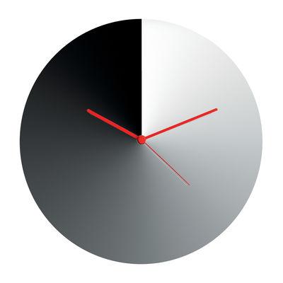 Déco - Horloges  - Horloge murale Arris / Acier - Ø 30 cm - Alessi - Chomé / Aiguilles rouges - Acier inoxydable chromé