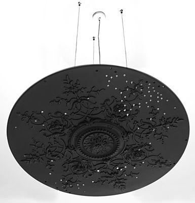 Plafonnier Mr Haussman en plâtre / Ø 82 cm - En exclusivité - Compagnie noir en pierre