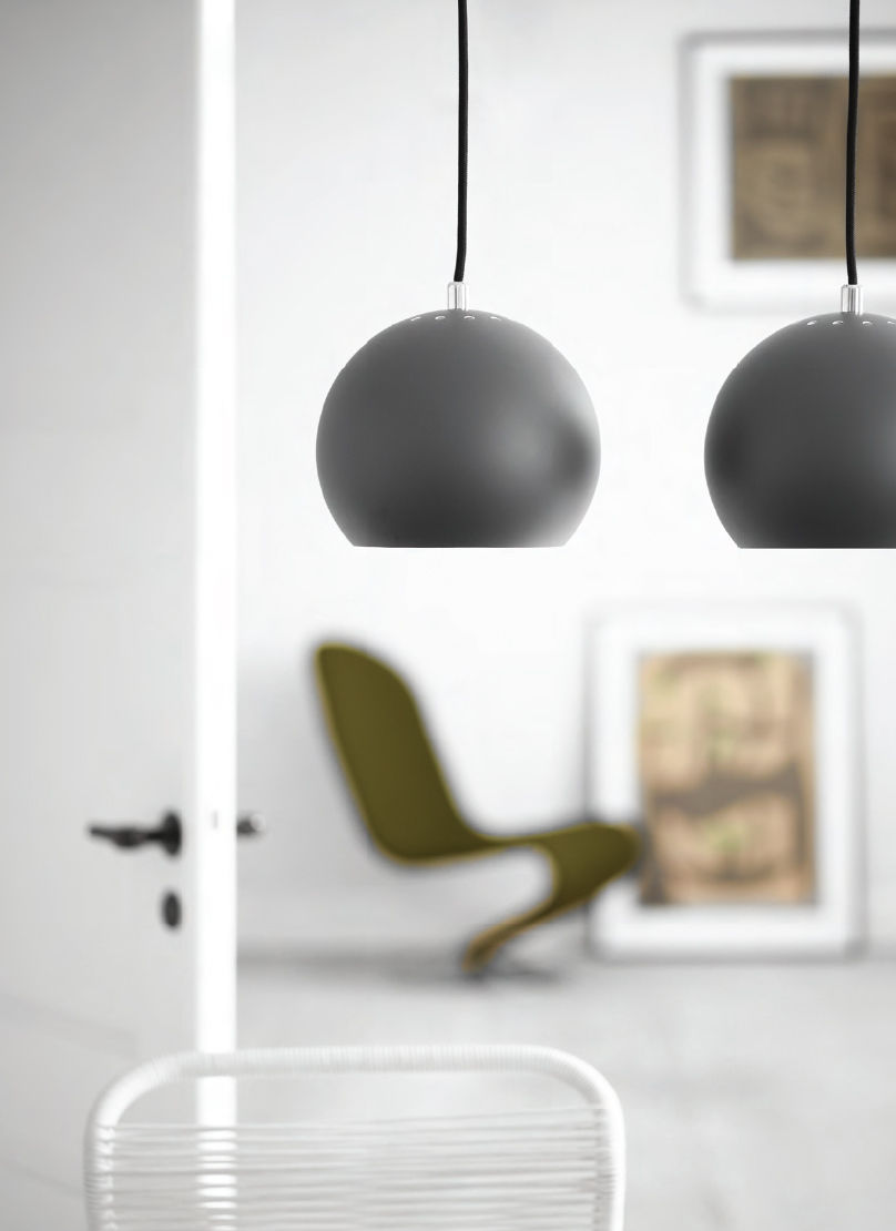 ball small pendelleuchte neuauflage des originals aus dem jahr 1969 kupfer matt geb rstet. Black Bedroom Furniture Sets. Home Design Ideas