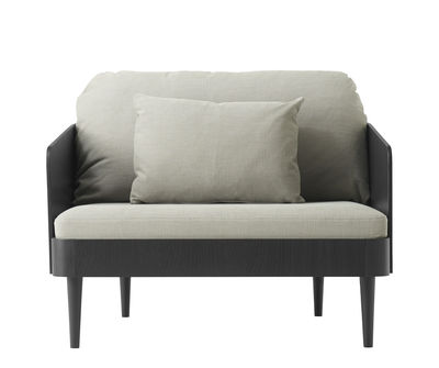 Septembre Gepolsterter Sessel / Holz & Stoff - Menu