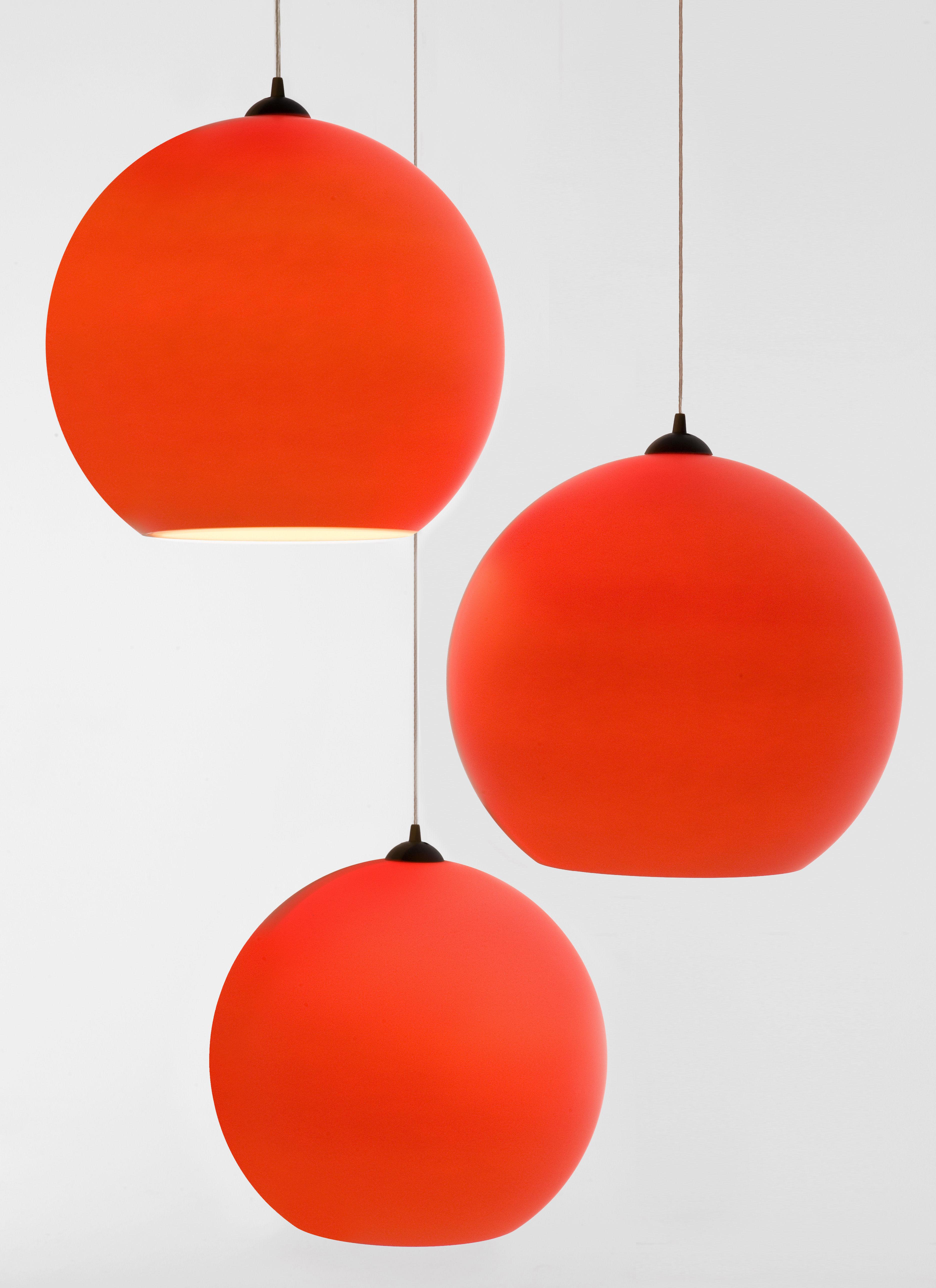 Tom Dixon Lampada Fluoro : Fluoro pendant fluorescent orange by tom dixon made in