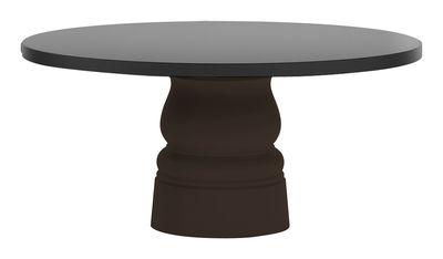 Foto Gamba da tavolo Container New Antique - Ø 56 x H 71 cm - Per piano d'appoggio Ø 160 cm di Moooi - Marrone - Materiale plastico
