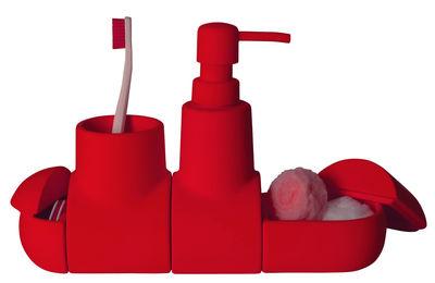 Set d'accessoires Submarine Pour salle de bains Seletti rouge en céramique