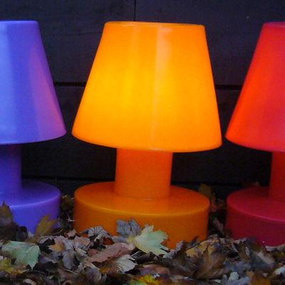Image of Lampada senza fili - Portatile senza filo ricaricabile - h 56 cm di Bloom! - Arancione - Materiale plastico