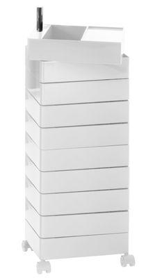 Image of 360° Rollcontainer 10 Schubladen - Magis - Weiß glänzend