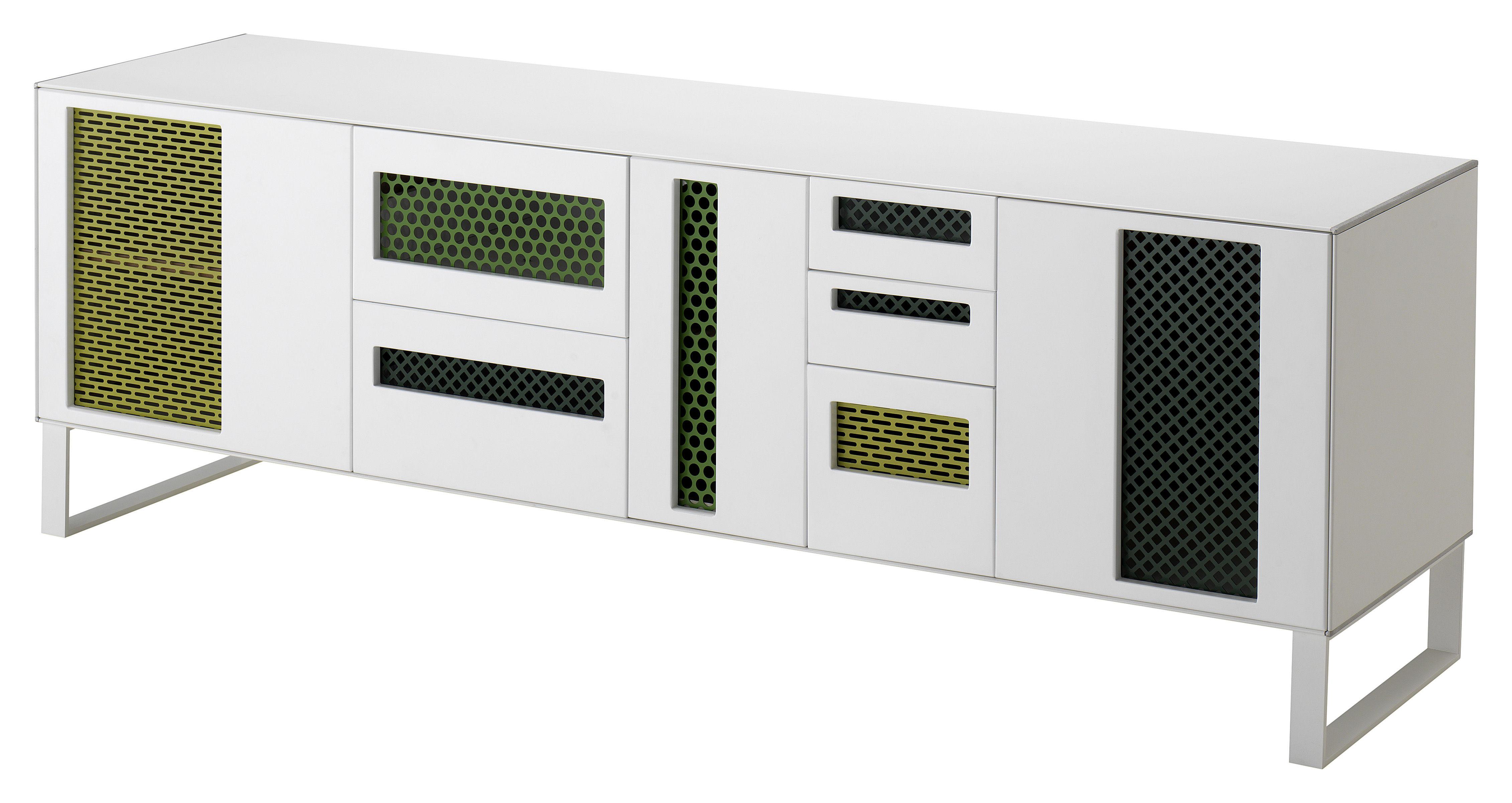 buffet patch cabinet meuble tv hi fi l 180 cm blanc. Black Bedroom Furniture Sets. Home Design Ideas