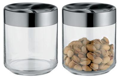 Accessories - Bathroom Accessories - Julieta Airtight jar - 75 cl by Alessi - Transparent & steel - Glass, Stainless steel