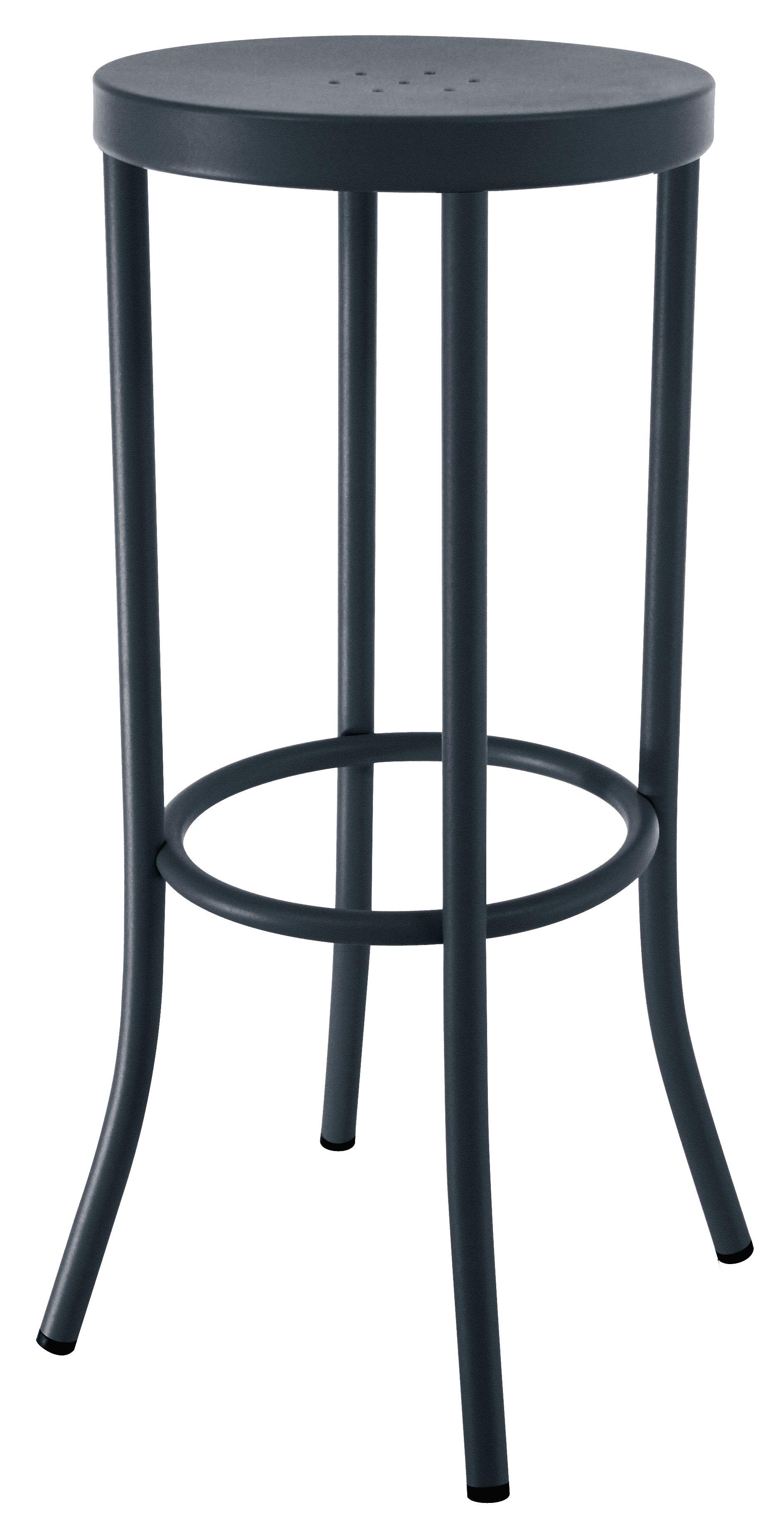 tabouret de bar ds n 1 h 80 cm acier peint gris anthracite souvignet design. Black Bedroom Furniture Sets. Home Design Ideas