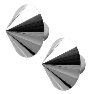 Foto Appendiabiti Borchia - / Set da 2 di Opinion Ciatti - Cromato - Metallo