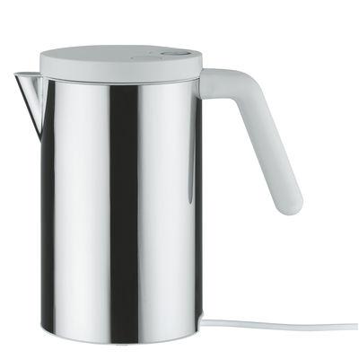 Bouilloire électrique Hot.it 80 cl - Alessi blanc,métal brillant en métal