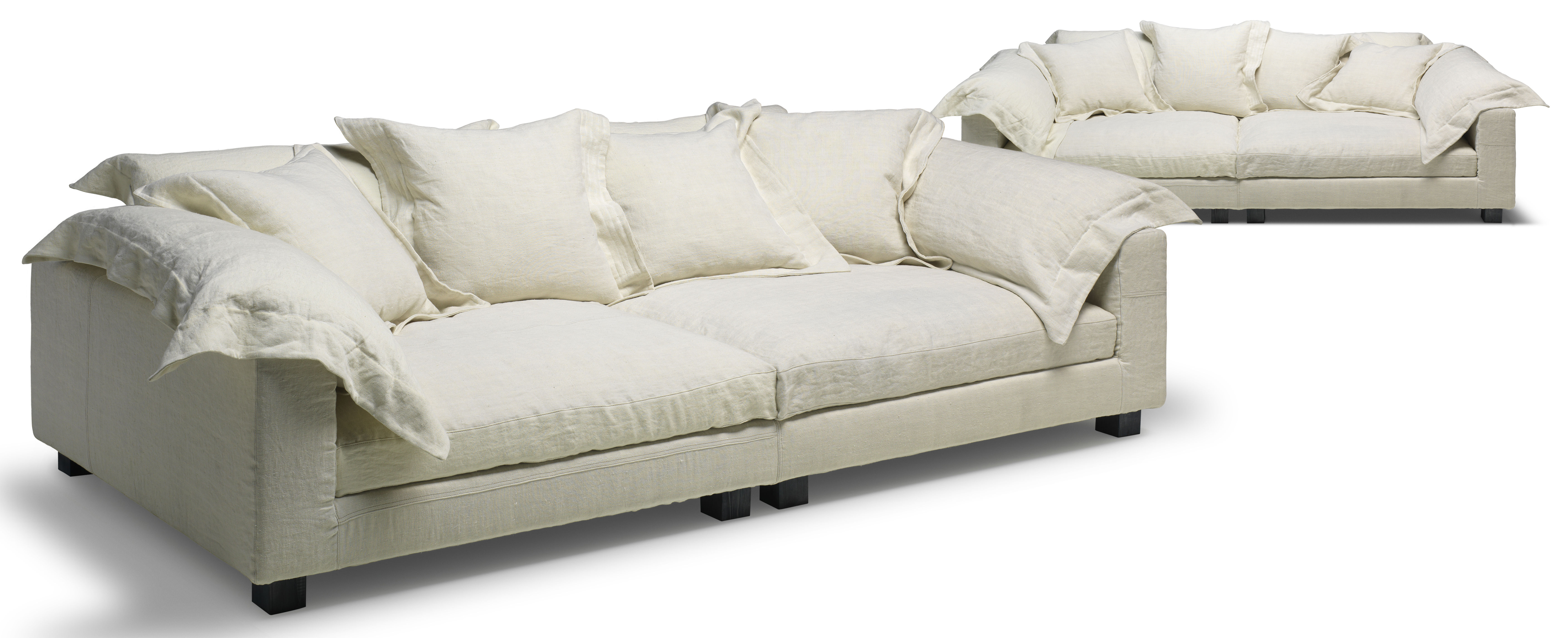 canap droit nebula nine l 220 x prof 110 cm blanc cass diesel with moroso. Black Bedroom Furniture Sets. Home Design Ideas