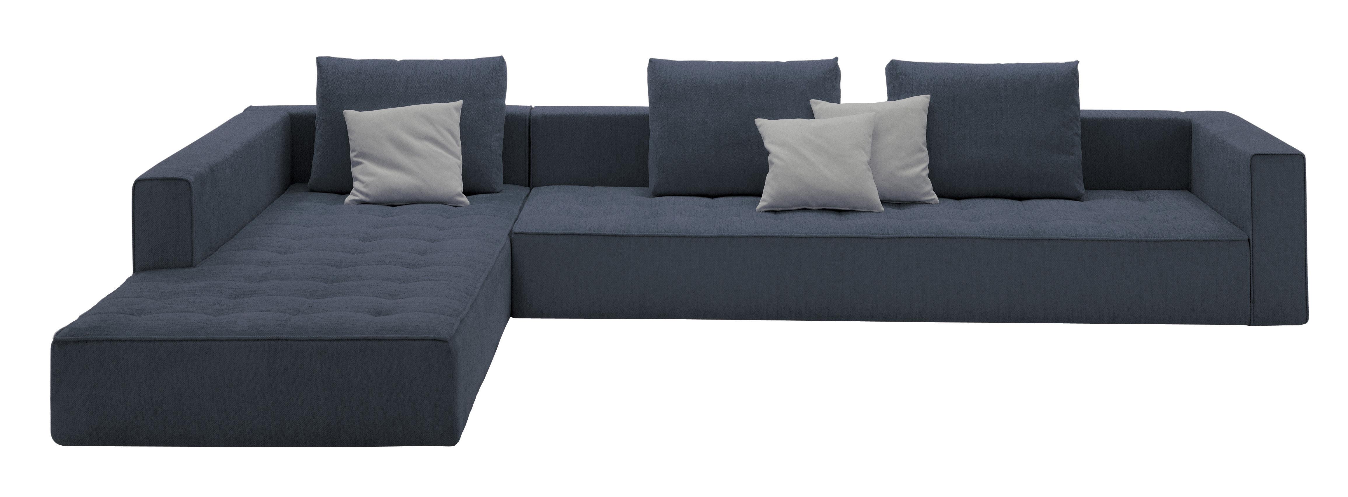 canap droit kilt 3 places l 278 cm tissu gris zanotta. Black Bedroom Furniture Sets. Home Design Ideas