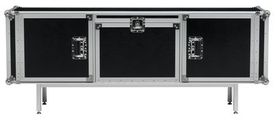 Buffet Total Flightcase - L 180 cm di Diesel with Moroso - Nero - Metallo