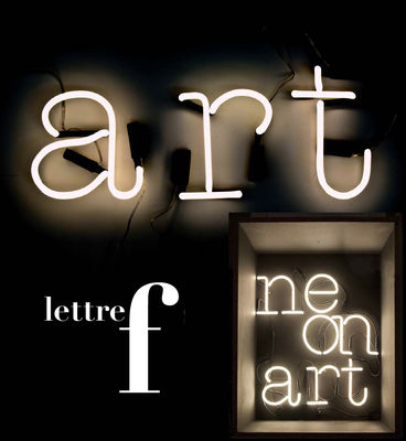 Applique neon art lettre f lettre f blanc seletti - Applique neon design ...