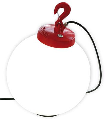Lampe Grumo N°3 / A poser ou suspendre - H 58 x Ø 40 cm - Roger Pradier rouge en matière plastique