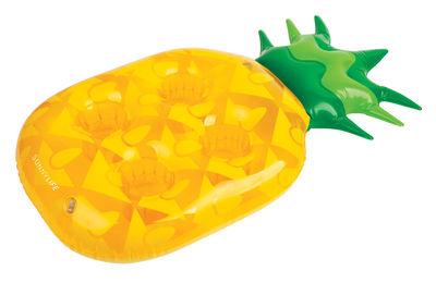 Porte-verres gonflable / Ananas - 4 verres - Sunnylife jaune,vert en matière plastique