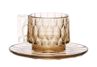 Tasse à café Jellies Family / Set tasse + soucoupe - Kartell vert en matière plastique