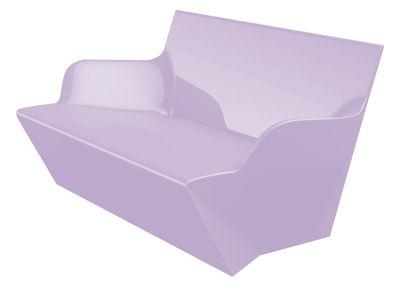 Image of Sofà Kami Yon - versione laccata di Slide - Laccato lavanda - Materiale plastico