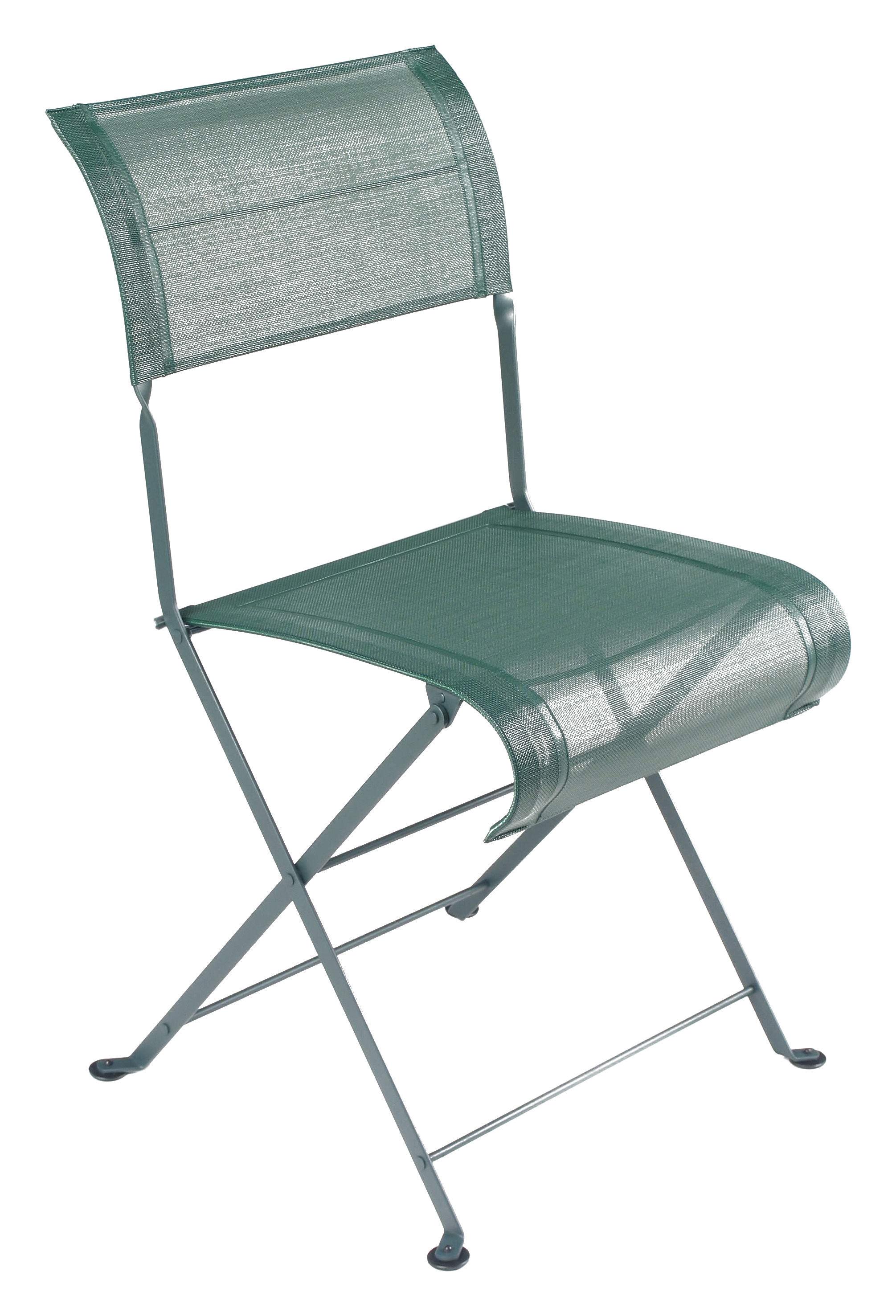 Chaise pliante dune toile c dre fermob - Chaise pliante en toile ...