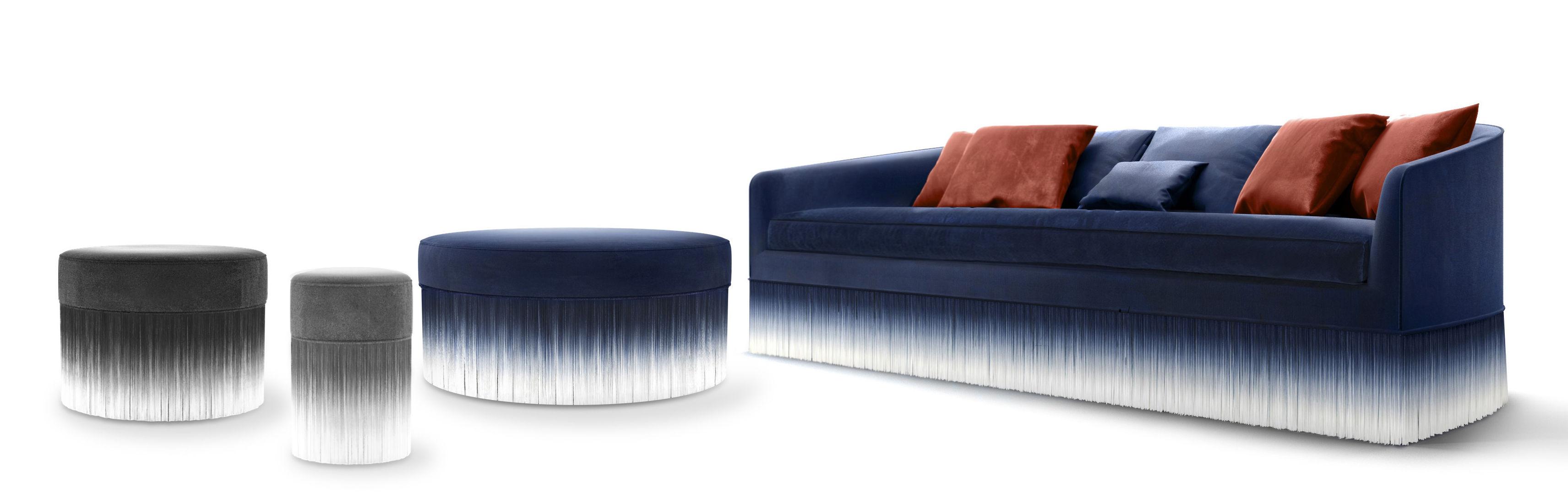 Scopri divano destro amami 3 posti l 250 cm velluto - Divano lungo 250 cm ...