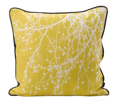 coussin tree bomb 50 x 50 cm jaune curry blanc cass dos noir ferm living. Black Bedroom Furniture Sets. Home Design Ideas