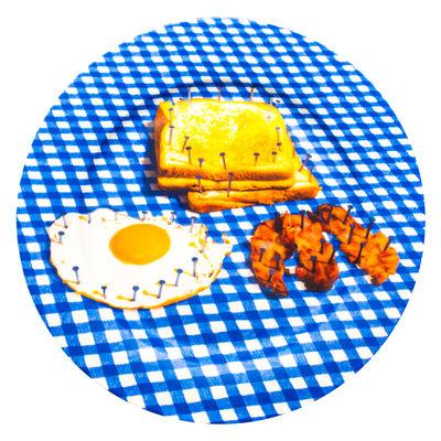 Assiette Toiletpaper - Breakfast / Porcelaine - Seletti multicolore en céramique