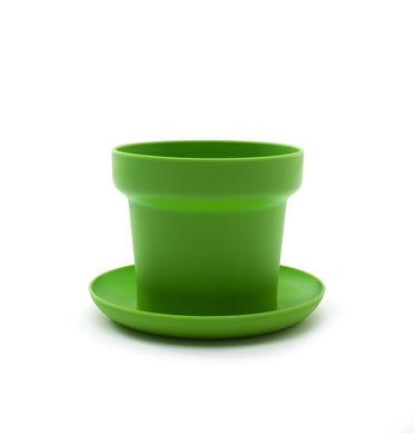 Pot de fleurs Green / Lot de 2 - Authentics vert en matière plastique