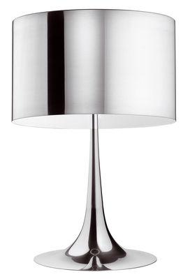 Foto Lampada da tavolo Spun Light T1 - H 57 cm di Flos - Alluminio lucido - Metallo