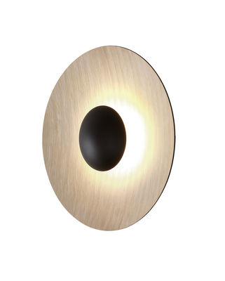 Luminaire - Appliques - Applique Ginger Medium / LED - Ø 42 cm - Bois - Marset - Chêne / Extérieur chêne - Contreplaqué de chêne, Métal laqué