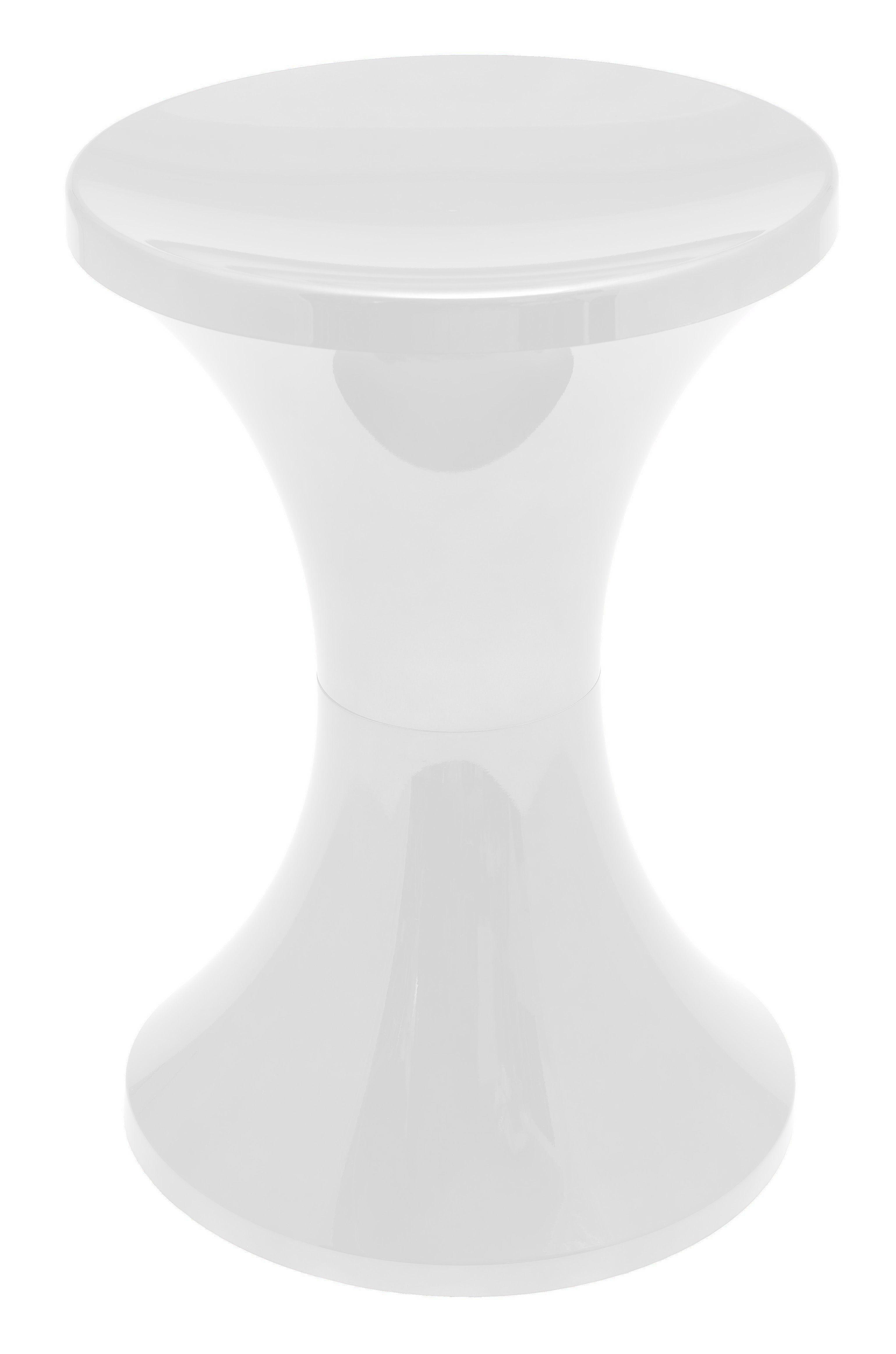 tabouret tam tam chrom plastique blanc m tallis stamp edition made in design. Black Bedroom Furniture Sets. Home Design Ideas