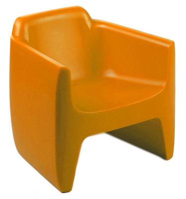 Furniture - Kids furniture - My First Translation Children armchair by Qui est Paul ? - Orange - Polythene