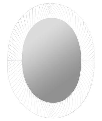 Miroir mural Stilk / Ovale - 80 x 65 cm - Serax blanc en métal