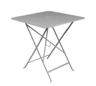 Table pliante Bistro 71 x 71 cm Trou pour parasol Fermob gris métal en métal