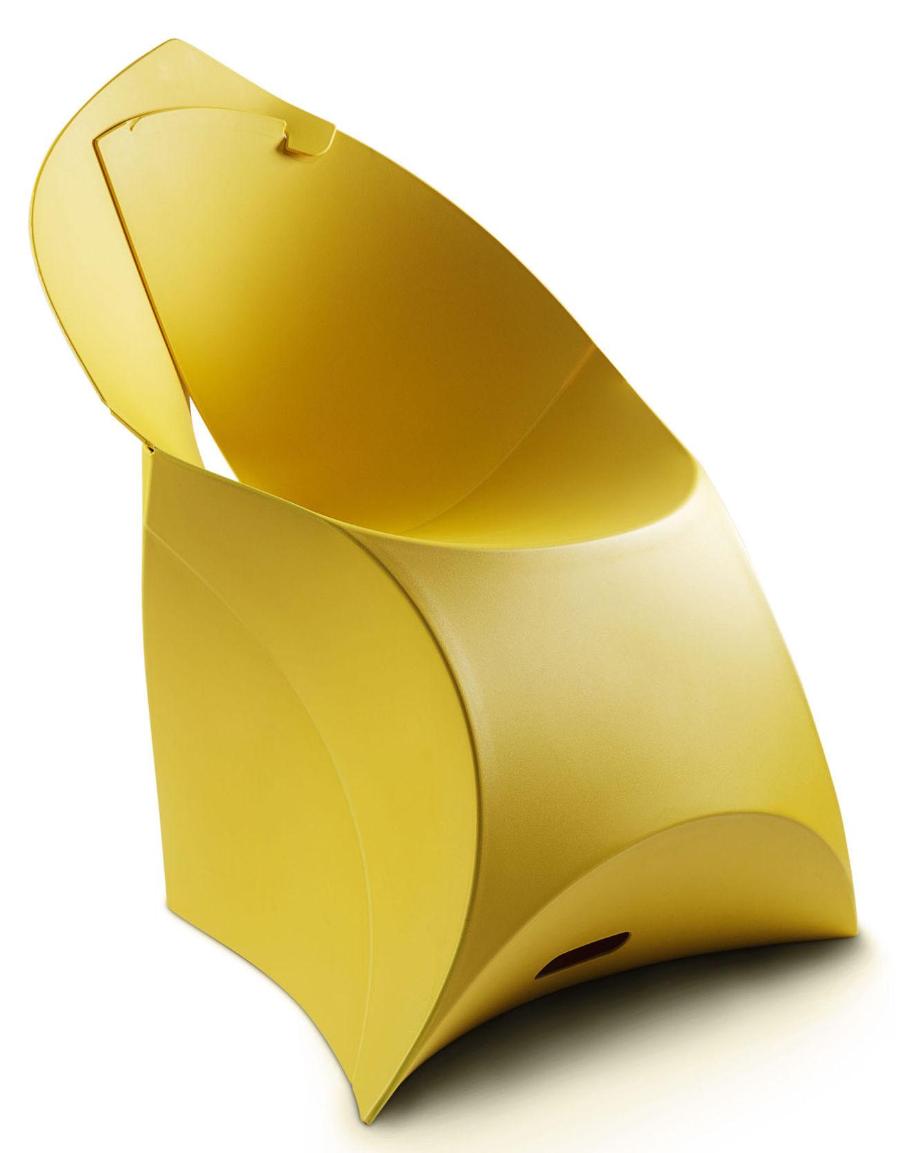 Flux Chair Folding Armchair Polypropylene Yellow By Flux