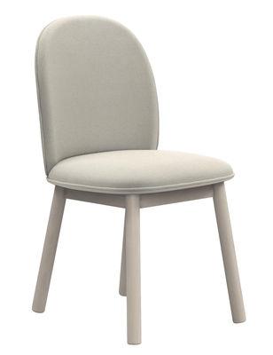 Mobilier - Chaises, fauteuils de salle à manger - Chaise rembourrée Ace / Tissu & bois - Normann Copenhagen - Tissu beige - Hêtre teinté, Tissu Nist