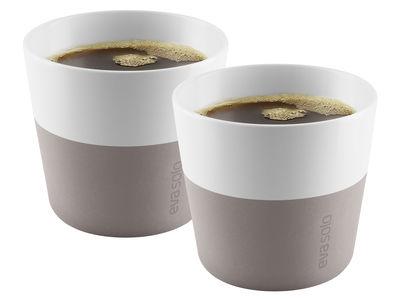 Gobelet Lungo Set de 2 230 ml Eva Solo blanc,gris chaud en céramique