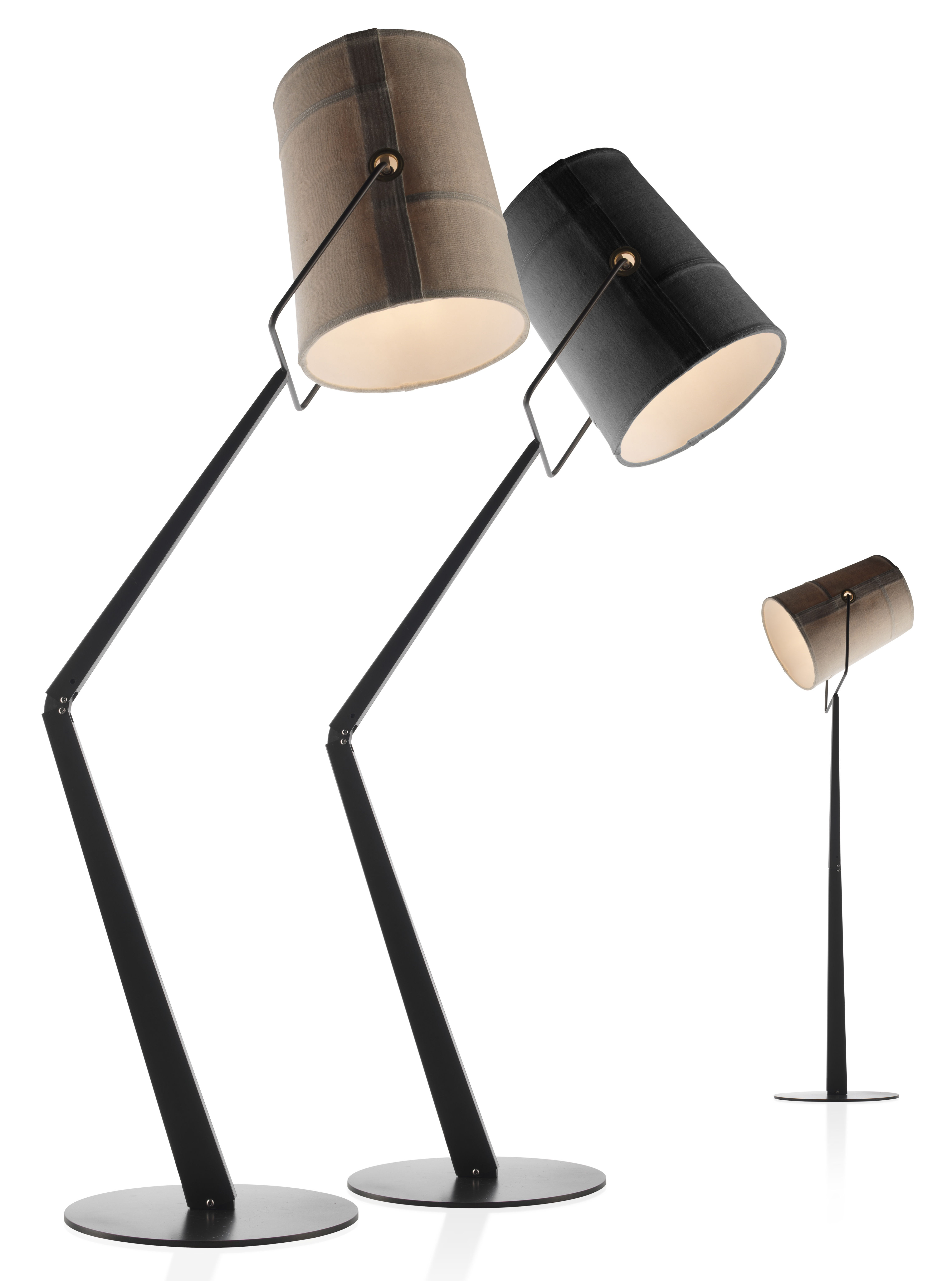 fork floor lamp grey brown base by diesel with foscarini. Black Bedroom Furniture Sets. Home Design Ideas