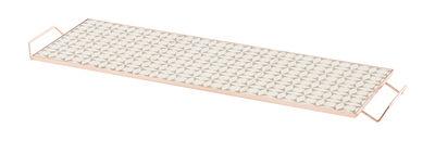 Arts de la table - Plateaux - Plateau Mix&Match / 60 x 20 cm - Céramique & cuivre - Gan - 60 x 20 cm / Gris - Aluminium plaqué cuivre, Céramique