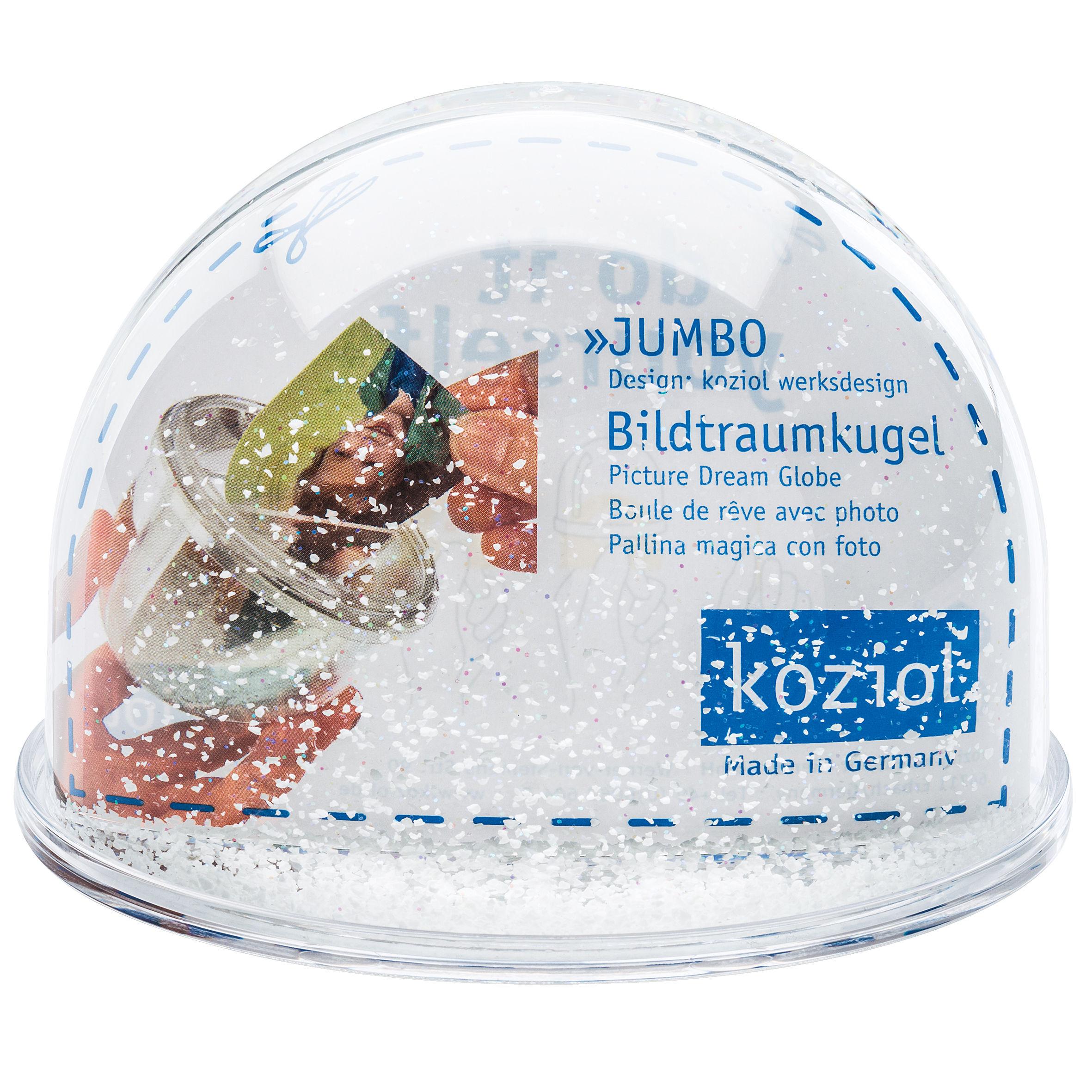 Boule à neige Jumbo / Personnalisable - H 9,8 cm Transparent - Koziol