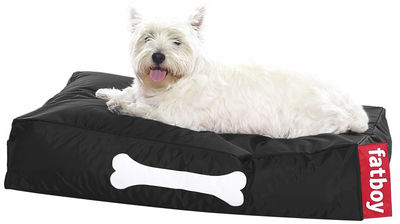 Furniture - Poufs & Floor Cushions - Doggielounge Pouf - For dogs - small by Fatboy - Black - Nylon fabric
