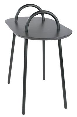 Tavolino d'appoggio Swim - / Per l'esterno - 71 x 37 cm di Bibelo - Grigio - Metallo
