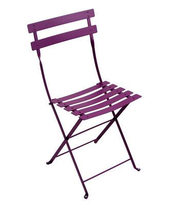 Chaise pliante Bistro / Métal - Fermob aubergine en métal