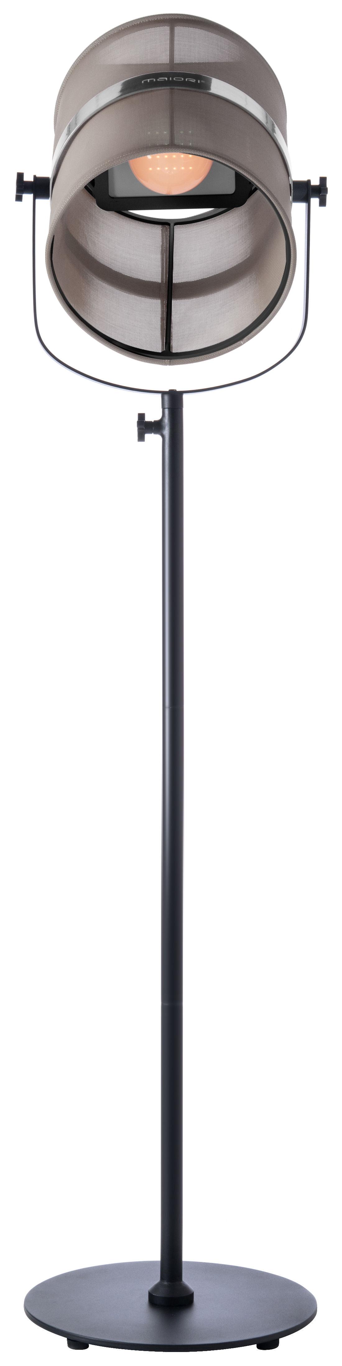 la lampe paris led solar floorlamp solar structure black diffuser light taupe by maiori. Black Bedroom Furniture Sets. Home Design Ideas