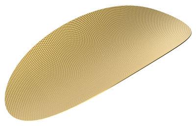 Plateau Ellipse / Laiton - L 40 cm - Alessi laiton en métal