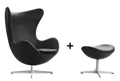 Egg chair Drehsessel Leder - Fritz Hansen
