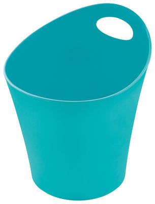 Pot Pottichelli L / Cache-pot - Ø 21 x H 23 cm - Koziol turquoise opaque en matière plastique