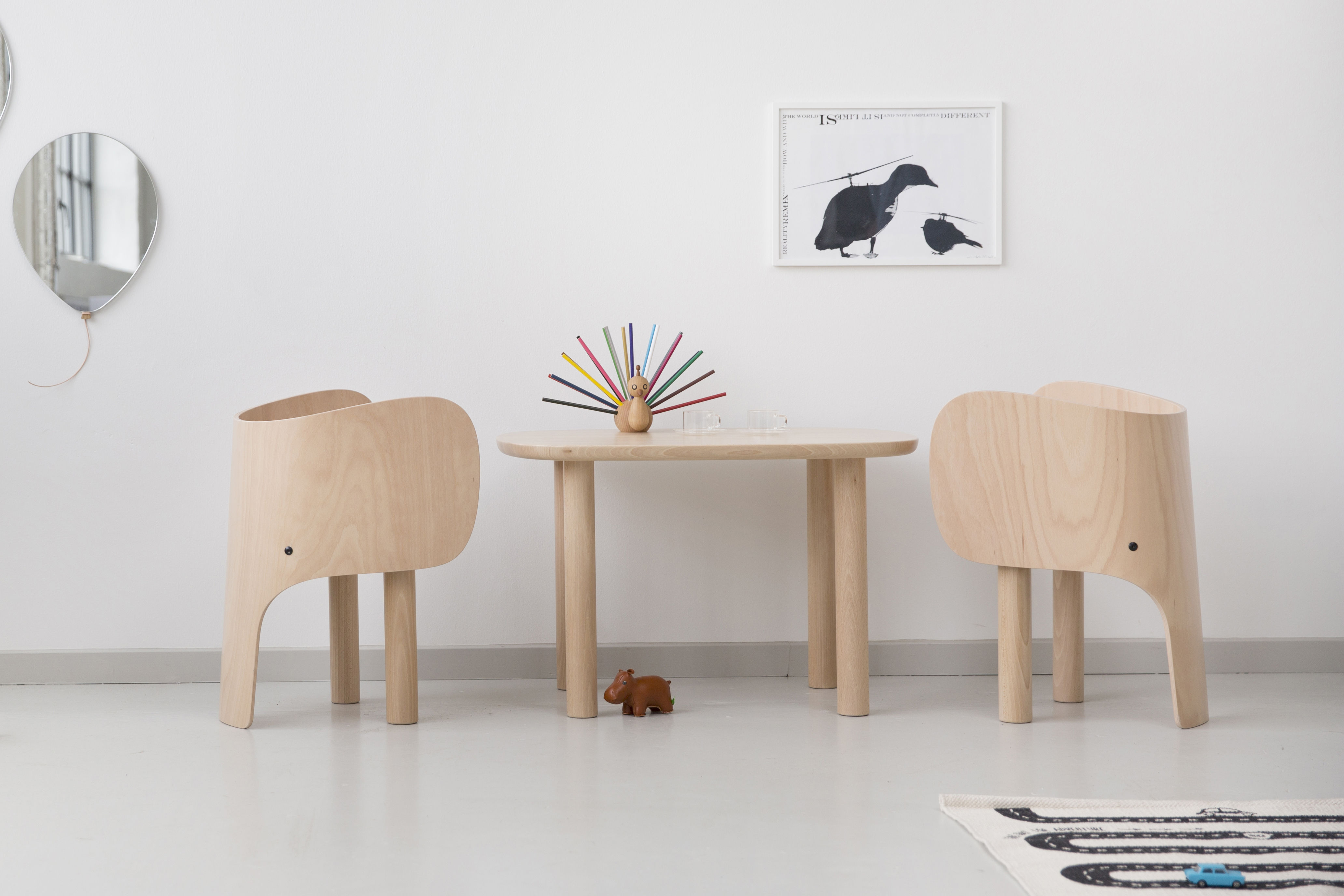 elephant children 39 s chair h 52 cm beech by elements optimal