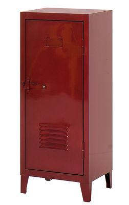 Foto Portaoggetti - Guardaroba basso 1 porta di Tolix - Rosso velato - Metallo